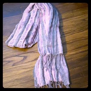 Other - Gray & pink scarf